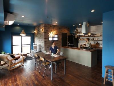「株式会社 空間社」のマンションリノベーション事例「料理番組のようなキッチンに!-azur mu-」