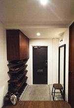 リビングに集う、玄関、靴箱、収納