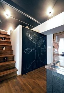 ロフト、黒板