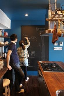 キッチン、黒板、レシピ
