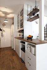 BASC GRAY、造作カップボード、食器棚