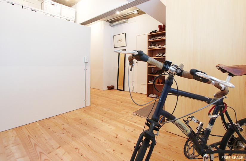 自転車も置ける玄関