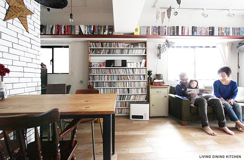 横須賀の週末住宅、カウンターキッチン