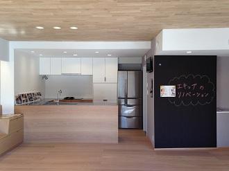 黒板、キッチン