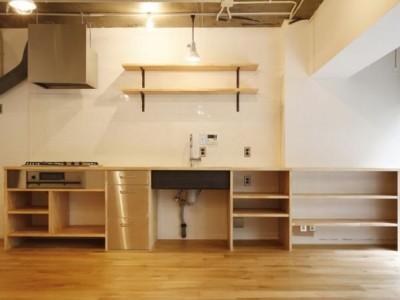 「M・DESIGN」のマンションリノベーション事例「広尾 かざるキッチン」