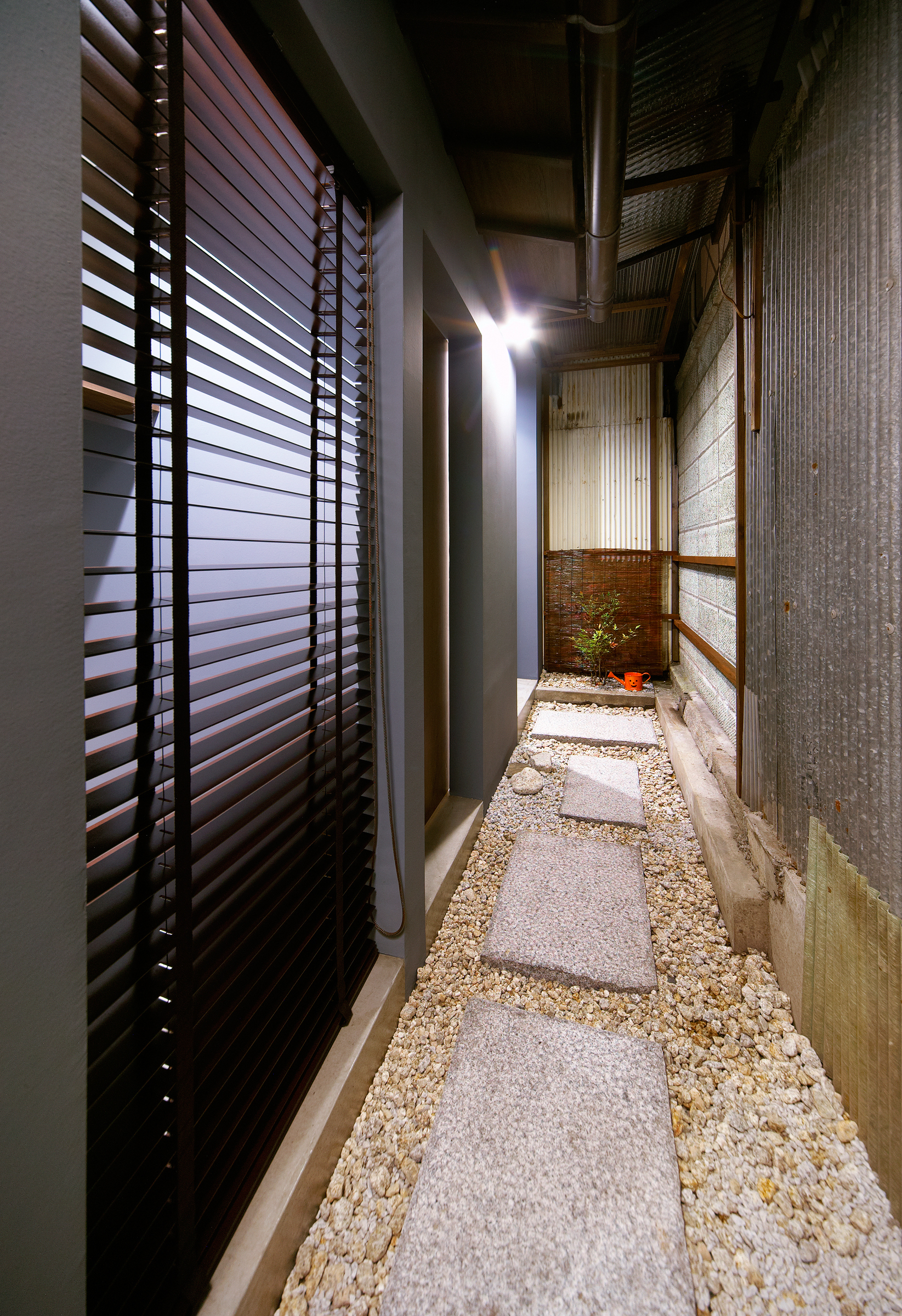 横須賀の週末住宅、廊下、縁側