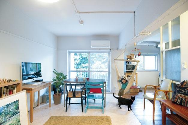 「ルーヴィス」のリノベーション事例「築52年の公団住宅を最小限の工事で コンパクトにリノベーション」