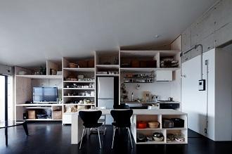 壁面収納、キッチン