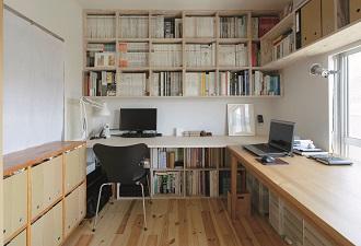 青木律典、仕事場、書斎、