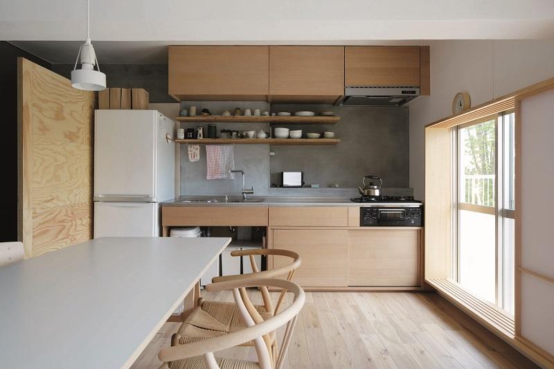 「青木律典 | 株式会社デザインライフ設計室」のリノベーション事例「仕切り方の工夫により広がりを持たせ 障子を用いて美しい表情の空間に」