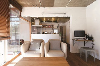 リビング、キッチン、和室