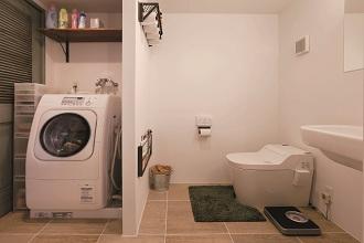 洗面室、トイレ、洗濯機コーナー