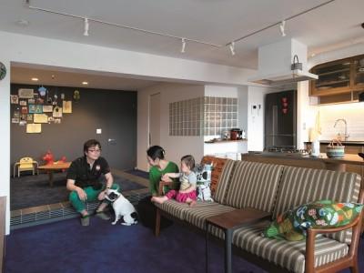 「ブルースタジオ」のマンションリノベーション(SOHO)事例「のびのびと暮らせる快適SOHO」
