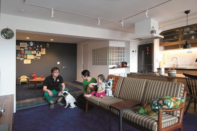「ブルースタジオ」のリノベーション事例「のびのびと暮らせる快適SOHO」