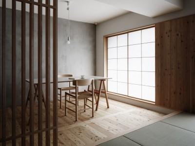 「青木律典 | 株式会社デザインライフ設計室」のリノベーション事例「「光の居処」」