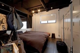 ハコリノベ、サンリフォーム、寝室、ベッドルーム、ロッカー