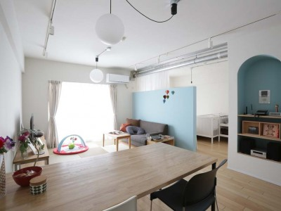 「アズ建設」のマンションリノベーション事例「センスのいい工務店との出会いで、納得のいく空間に」