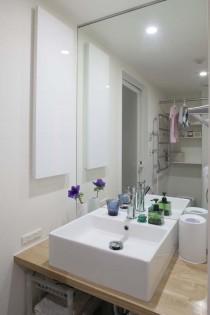洗面室、タオルウォーマー、アズ建設