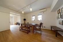 ダイニング、こだわり家具、開放感、ニューヨーク仕様、グラデン