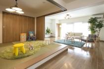 床上げ、和室、畳、キッズスペース