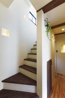 階段、スロープ、ガラスブロック、すむ図鑑