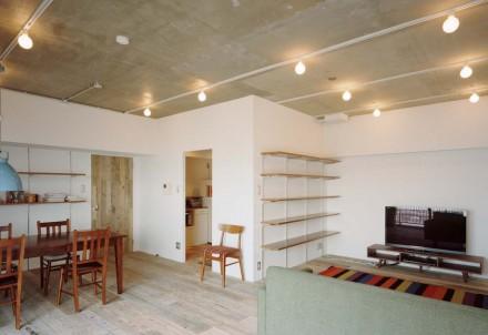 石井大吾デザイン室一級建築士事務所、建築家のリノベーション、独立型キッチン、LDK