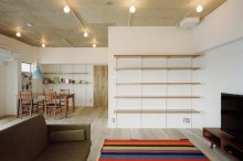 石井大吾デザイン室一級建築士事務所、建築家のリノベーション、LDK、リビング