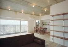 石井大吾デザイン室一級建築士事務所、建築家のリノベーション、LDK、リビング、眺望