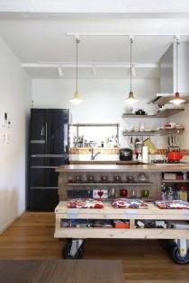 タイル、壁、キッチン、対面、スタイル工房