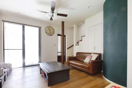 リビング、アール壁、DIY、塗装、スタイル工房