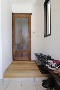 玄関、クローク、収納、ガラス扉、スタイル工房