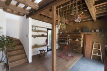 土間、玄関、飾り棚、リビタ
