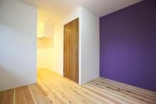 寝室、ベッドルーム、アクセントクロス、壁紙、室内、トイレ、空間工房、KULABO