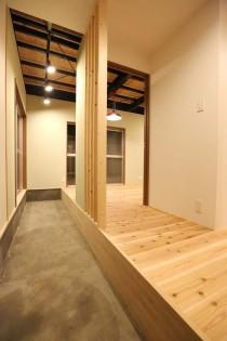 土間、玄関、仕事場、空間工房、KULABO