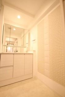 洗面、タイル、壁、リノステージ
