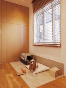対面式、キッチン、床暖房、タイル、愛犬、スタイル イズ スティルリビング