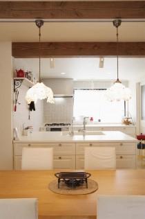 LDK、キッチン、飾り棚、南仏風、スタイル工房