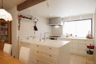 キッチン、タイル、モザイクタイル、南フランス風、スタイル工房