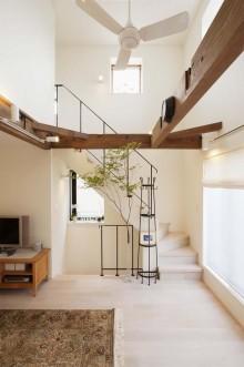 階段、アイアン、手すり、コルクタイル、スタイル工房