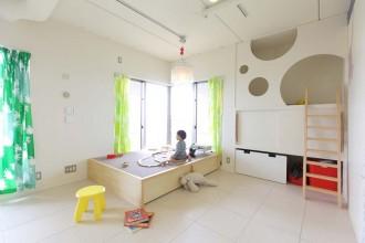 フェイシェルランプ、造作、小上がり、床上げ、可動式、プラスエム・アーキテクツ