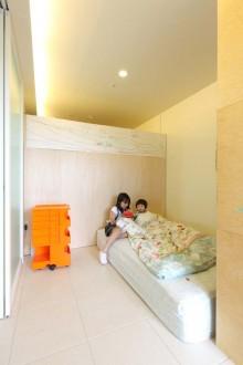 可動式、収納、寝室、ベッドルーム、クローゼット、プラスエム・アーキテクツ