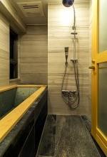 浴槽、桧、大判、タイル、浴室、QUALIA クオリア