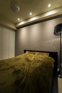 ダウンライト、寝室、壁紙、クロス、QUALIA、クオリア