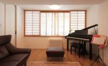 リビング、ピアノ、障子、木枠、リノステージ