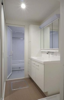 洗面台、脱衣所、浴室、積水化学マルリノ