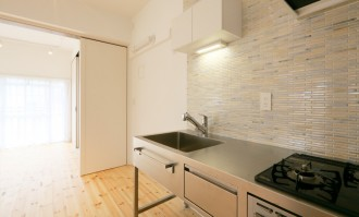キッチン、シェル、貝殻、タイル壁、リノまま、renomama