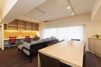 ハンターグラス、窓、布製、ブラインド、リノベーション東京