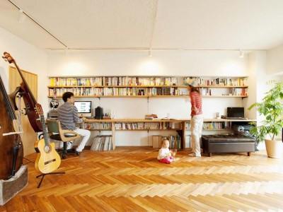 「スタイル工房」のリノベーション事例「音楽ホールのようなリビングで 楽器と映画を楽しむ暮らし」