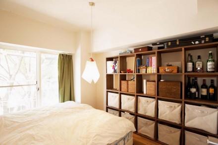 ベッドルーム、クローゼット、ナラ無垢、床材、スタイル工房