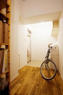 廊下、玄関、ホール、クリアオイル、ナラ無垢、スタイル工房